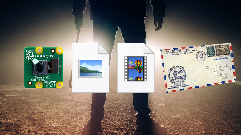 RaspberryPiカメラで画像を動画にエンコードしてメール送信